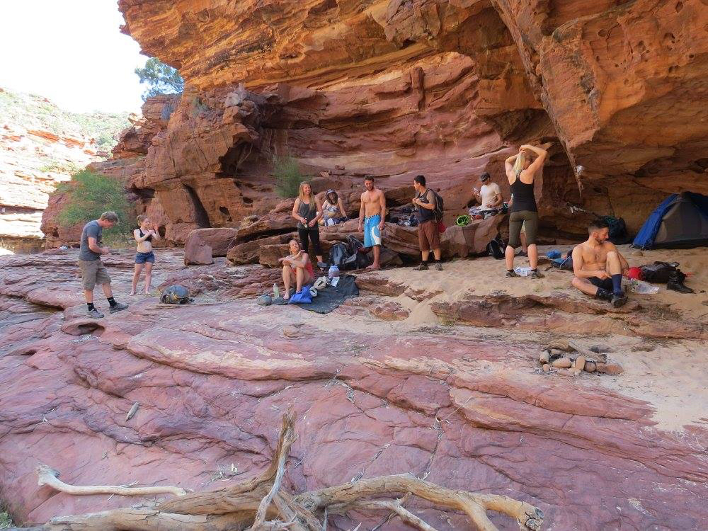 Chilling in the shade after a good session of Deep Water Soloing for
